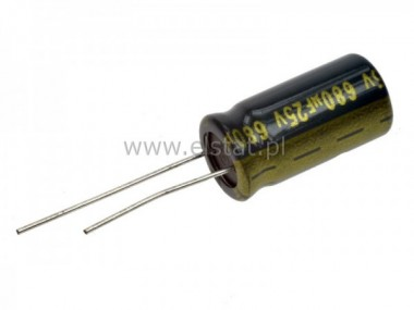 680u  25V  kond. ele. 105C  10x20mm LOW ESR