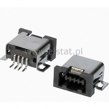 USB micro gniazdo 1A4D SMD  4pin